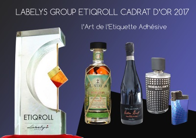 Les étiquettes de l'imprimeur Etiqroll gagnant du 61e Cadrat d'Or