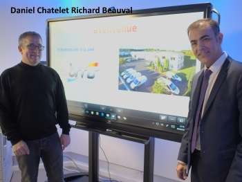 Daniel Chatet et Richard Beauval de BMS