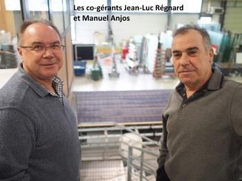 Les co-gérants de l'entreprise Glaveral, Jean-Luc Régnard et Manuel Anjos