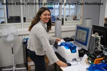 Barbara Billac, directrice générale du groupe Cap Monétique