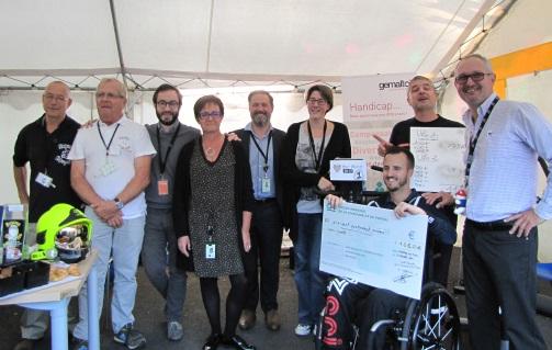 Les salariés de Gemalto Chambray les Tours récoltent 1680 euros pour aider les enfants hospitalisés