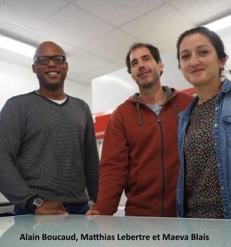 Alain Boucaud, Matthias Lebertre et Maeva Blais de Transderma