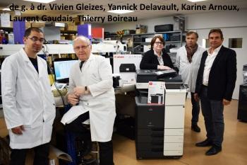 Vivien Gleizes, Yannick Delavault, Karine Arnoux, Laurent Gaudais, Thierry Boireau